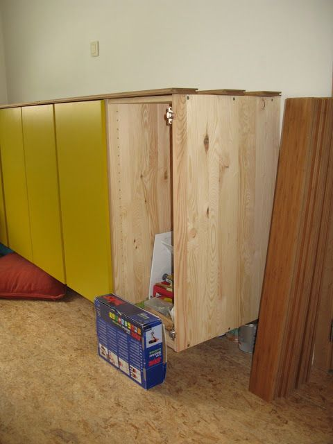 Hackers Suspended Wall Cabinet Ivar This Could Maybe Work As An Entertainment Center Built In