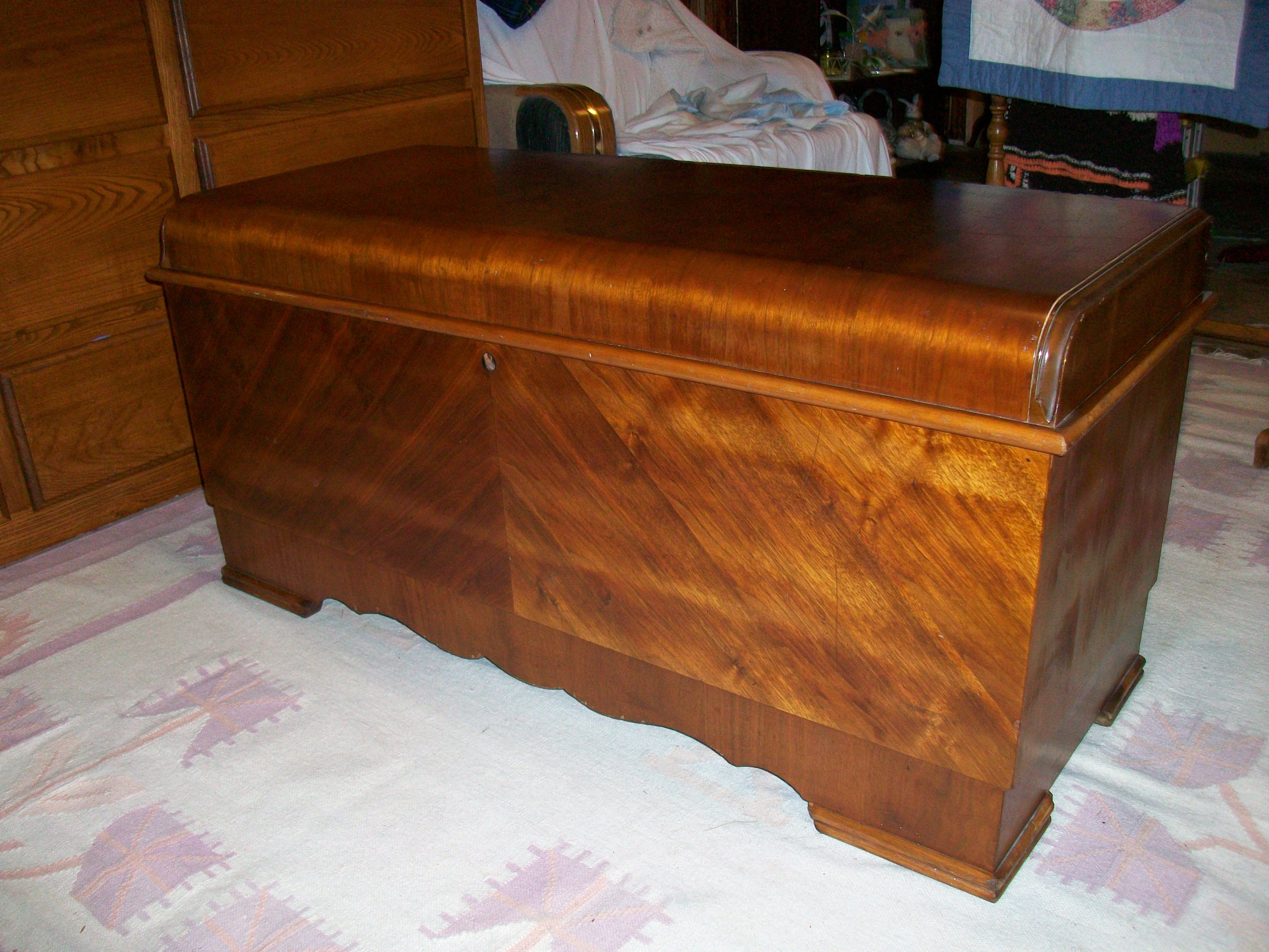 Lane Waterfall Cedar Chest I Have One Exactly Like This That Was My Mom Dad S From The 40 S Waterfall Furniture Cedar Chest Vintage Design Ideas