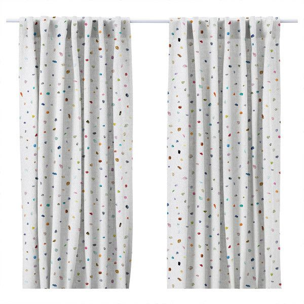 """""""Nara"""" Print Lined Curtain Panels"""