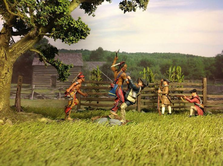 French & Indian War Diorama Featuring W. Britains figures. Available from MIchigan Toy Soldier Company at  www.michtoy.com