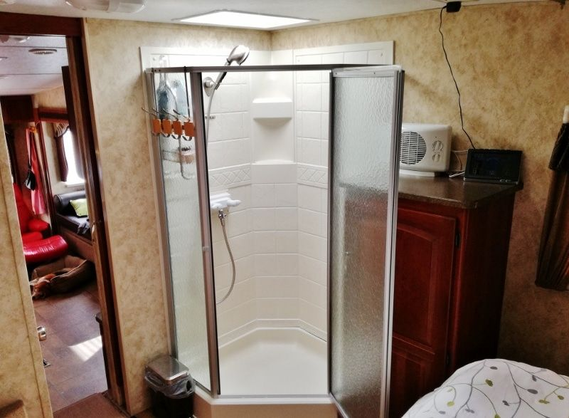 Rv Shower Stall Repairs New Door Sweeps And Reseal Shower Stall