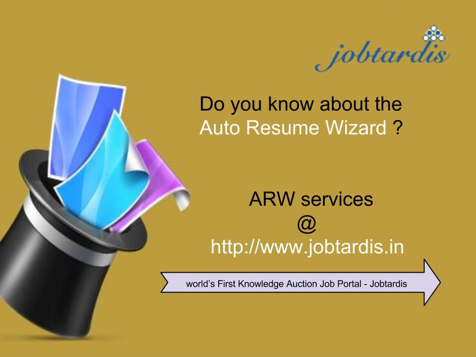 Auto resume wizard services brought to you only by