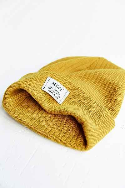 0d937aafeca Reason Patch Ribbed Knit Beanie - Urban Outfitters Knit Beanie