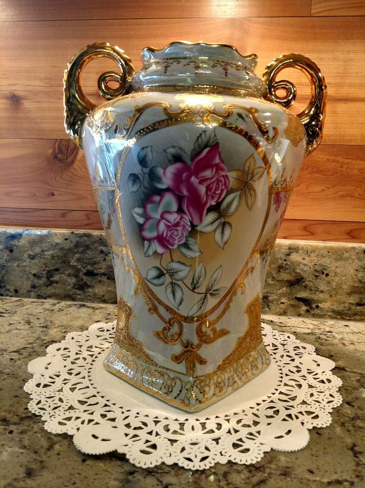 Details About 12 Ornate Limoges China Vase With Dual Handles I