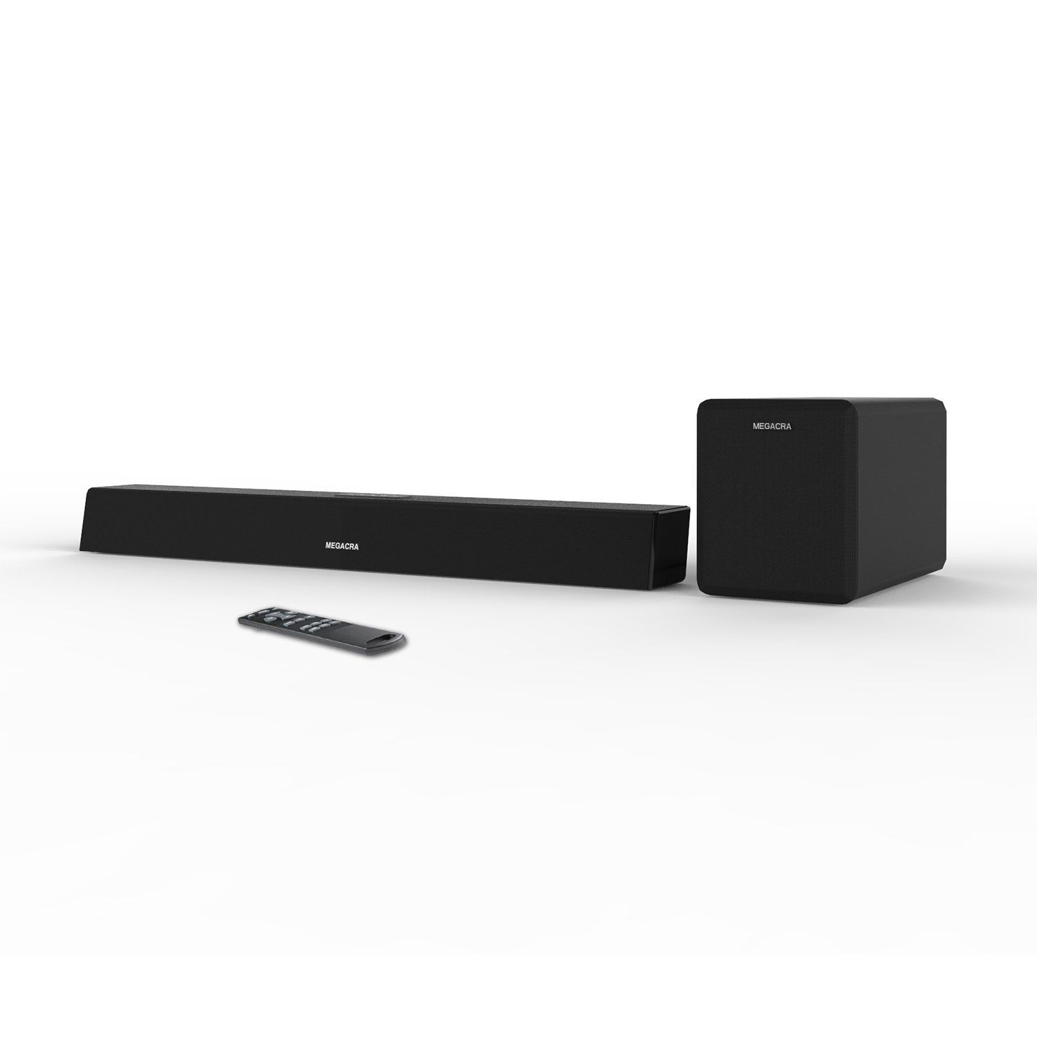 Soundbar with Subwoofer, MEGACRA Sound Bar with Sub Wired and ...