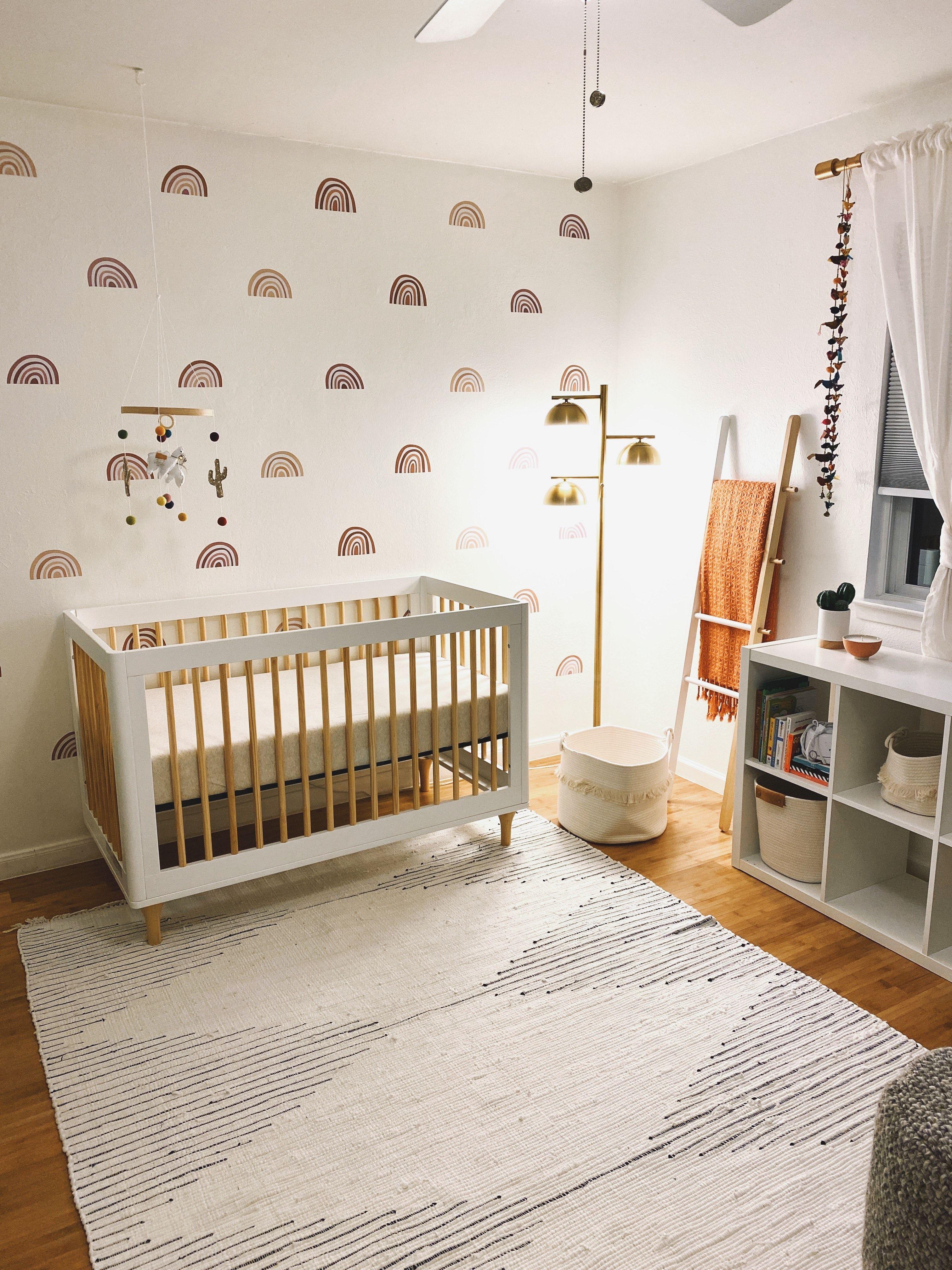 Mini Ombre Rainbows Nursery Baby Room Baby Room Neutral Minimalist Baby Room