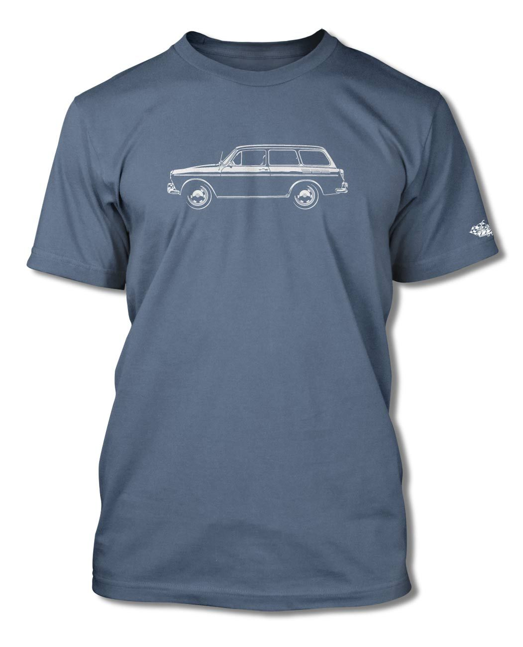Volkswagen Type 3 Variant Squareback 1961 – 1973 T-Shirt for Men The Volkswagen Type 3 was a compact car manufactured from 1961 to 1973. Introduced in the 1961, the Type 3 was marketed as the Volkswagen 1500 and later the Volkswagen 1600, in three body styles: two-door Notchback, Fastback and Variant station wagon, the latter marketed as the Squareback, The Type 3 diversified Volkswagen's product range beyond the existing models while retaining their engineering principles, notably the air-coole