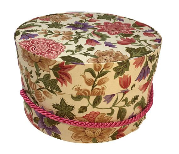 Decorative Round Boxes Cool Hat Box In Multi Color Floral Ready To Ship Round Box French Design Inspiration