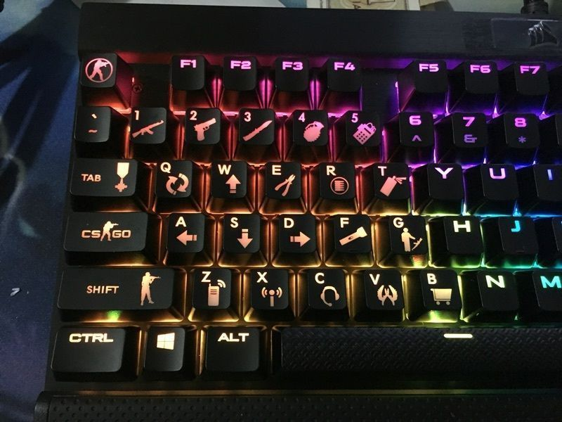 Details About New Abs Csgo Backlit 26 Keys Keycaps Set For Gaming