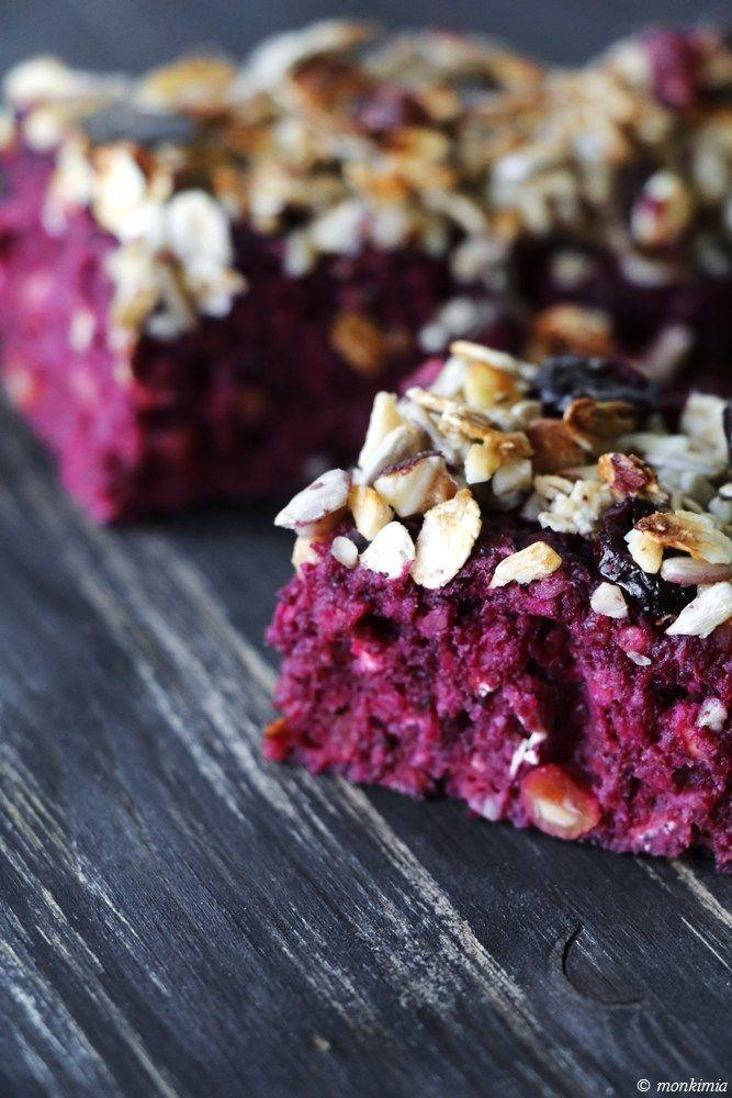 Rote Beete-Hafer-Powerbar - vegan - Grafikdesign-Fotografie-Food-Blog