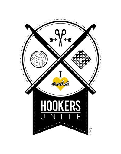 Hookers Unite Art Print from Society6