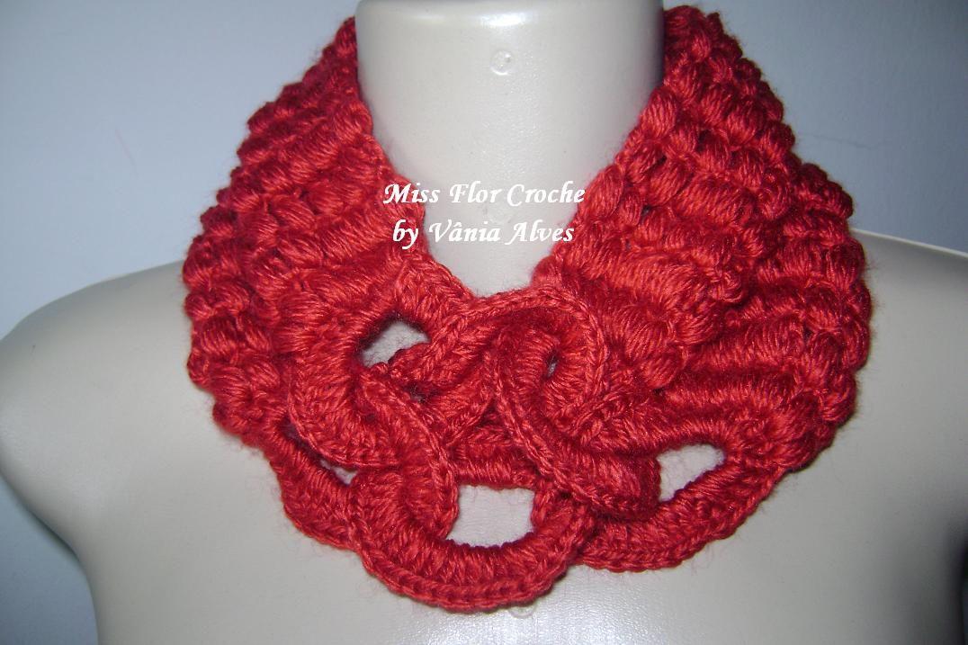 Vania Alves: Crochet Neck Warmer | Crochet shawls | Pinterest