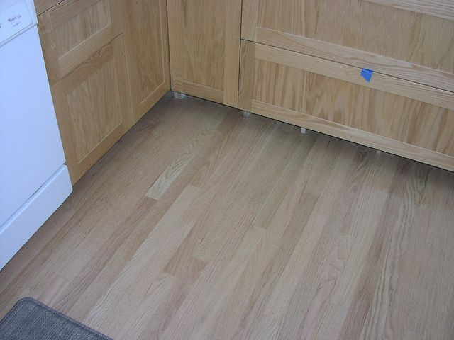 Unstained Red Oak Floor Cabinets By Wakefield Lake Resident Via Flickr
