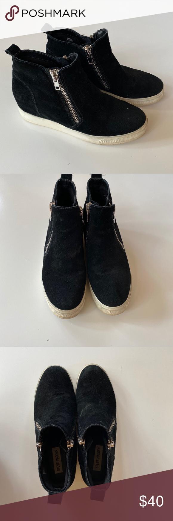 Steve Madden Wedgie High Top Platform Sneaker Platform