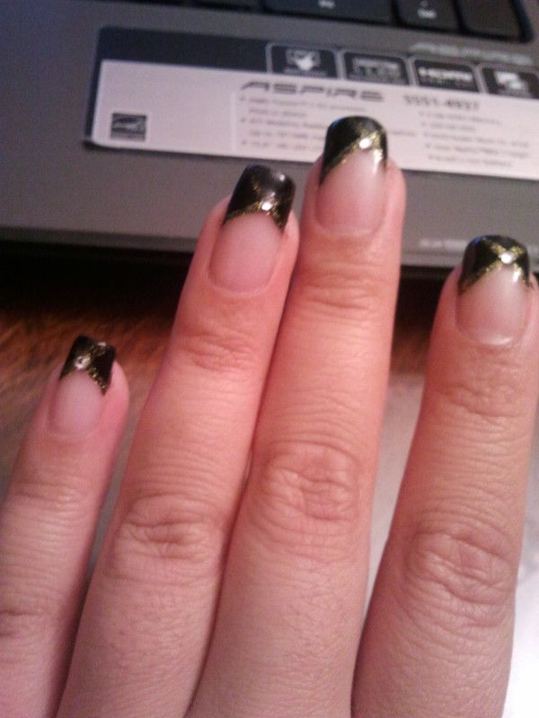 Iowa Hawkeye nails! | Nail designs by My sister & I | Pinterest