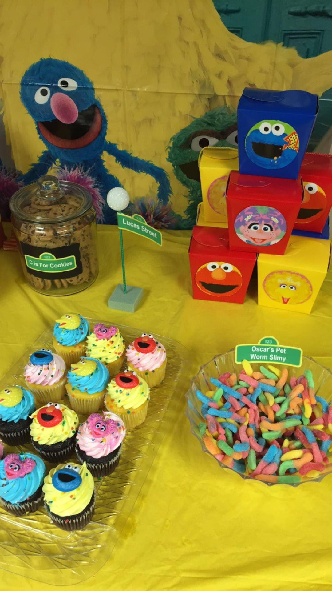 Sesame Street dessert table Sesame street birthday party