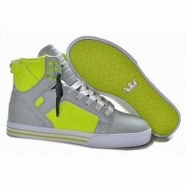 New Supra Skytop High Tops Grey Green Men Shoes