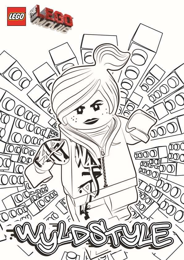 Coloring Page Lego Movie Wyldstyle Lego Movie Coloring Pages Lego Coloring Pages Lego Coloring