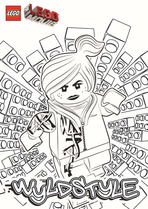 Coloring Page Lego Movie Wyldstyle Lego Movie Coloring Pages Lego Coloring Pages Lego Coloring