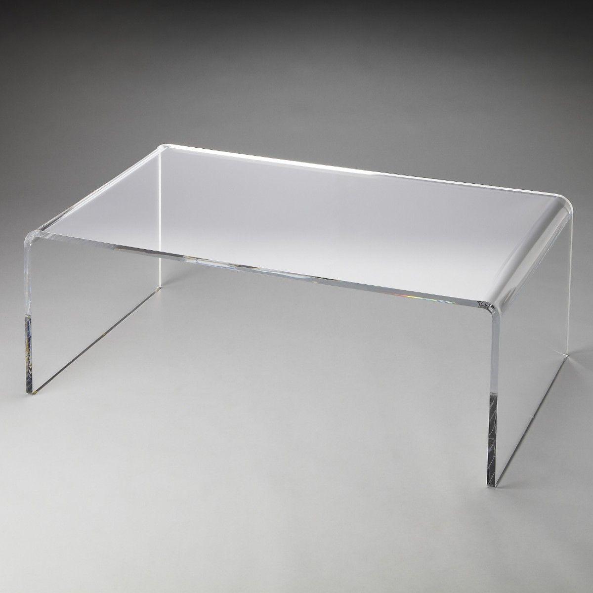 Butler Loft Crystal Clear Acrylic Cocktail Table With