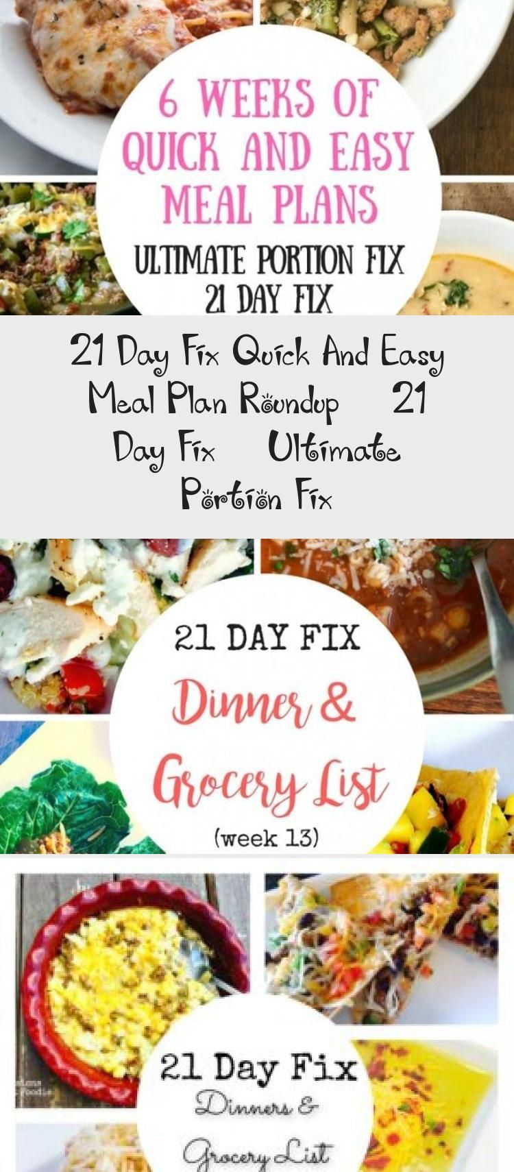 21 Day Fix Quick And Easy Meal Plan Roundup  21 Day Fix  Ultimate Portion Fix  Diet  Diet Meal Plans