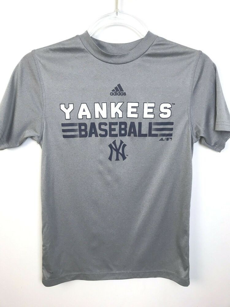 1f04530fd adidas New York Yankees Baseball Shirt,Boys Medium 10 - 12,Gray,Sports,MLB # adidas #Everyday