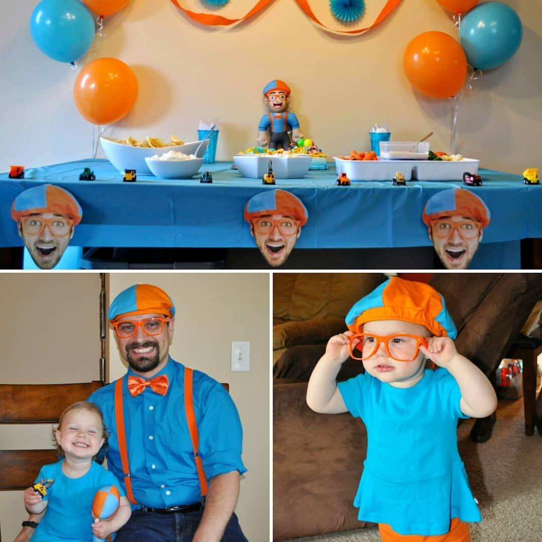 Gwen's 2nd Birthday! Girl loves Blippi and excavators