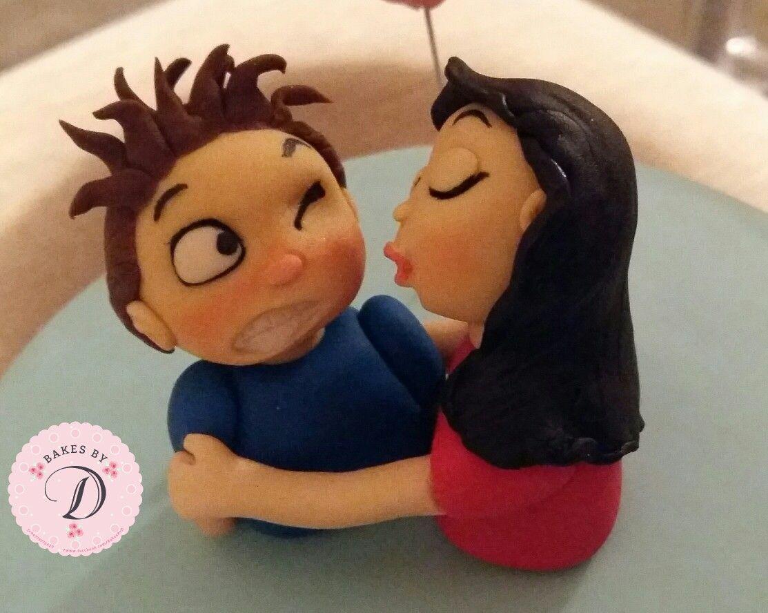 #birthdaycake #coupletheme #ribboncake