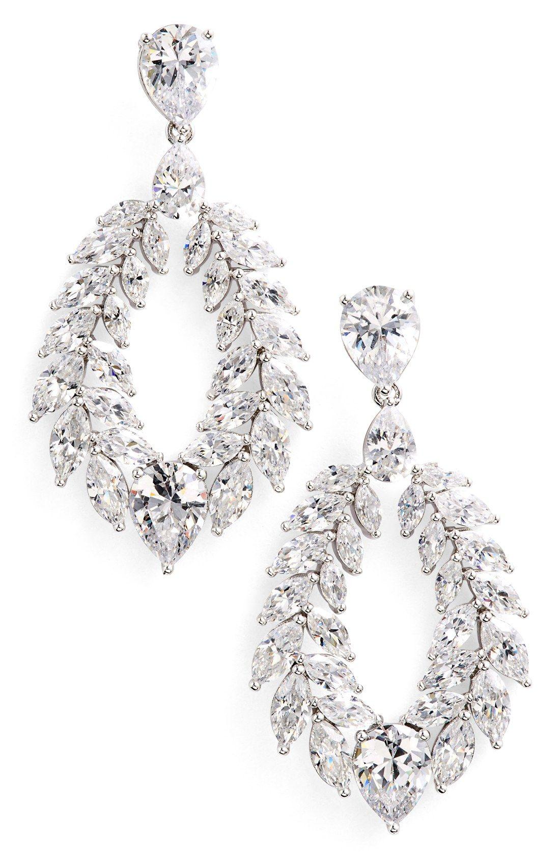 Nadri Josephine Cubic Zirconia Drop Earrings Styling Pinterest