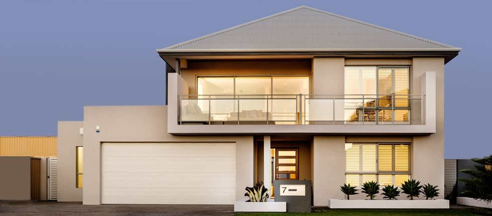 Apg display homes panorama visit for Double storey beach house designs