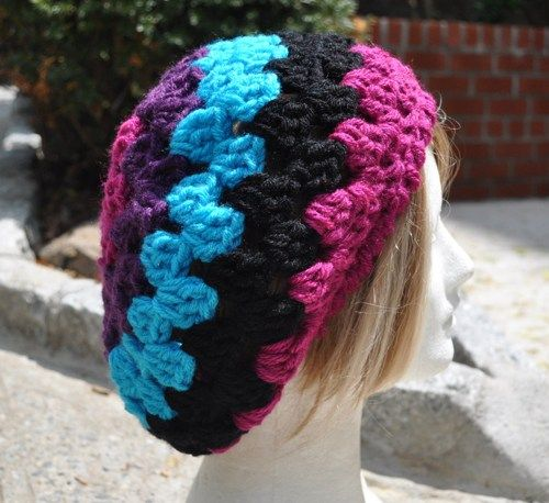 Crochet Hat Pattern Retro Granny Square Hat With Or Without Brim