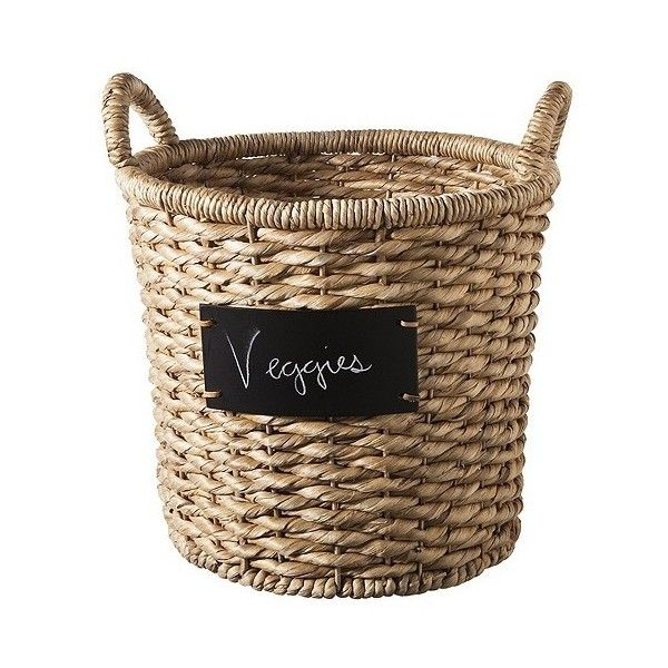 Round Decorative Boxes Amazing Smith & Hawken Round Decorative Basket With Chalkboard Neutral Review