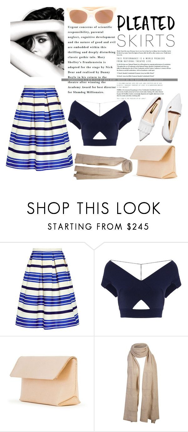 """Time To Move On"" by aichi ❤ liked on Polyvore featuring Paul & Joe Sister, Chanel, Roland Mouret, Rupert Sanderson, Iala Díez, STELLA McCARTNEY, vintage, pleatedskirts and nudecolour"
