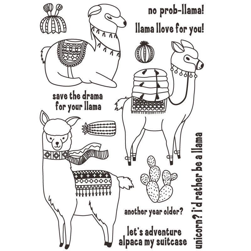 Gunstige Nette Llamas Transparent Klar Silikon Stempel Dichtung