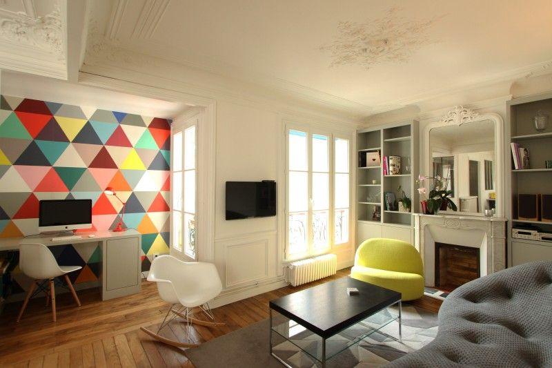 Rénovation d\u0027un appartement haussmannien par Camille Hermand