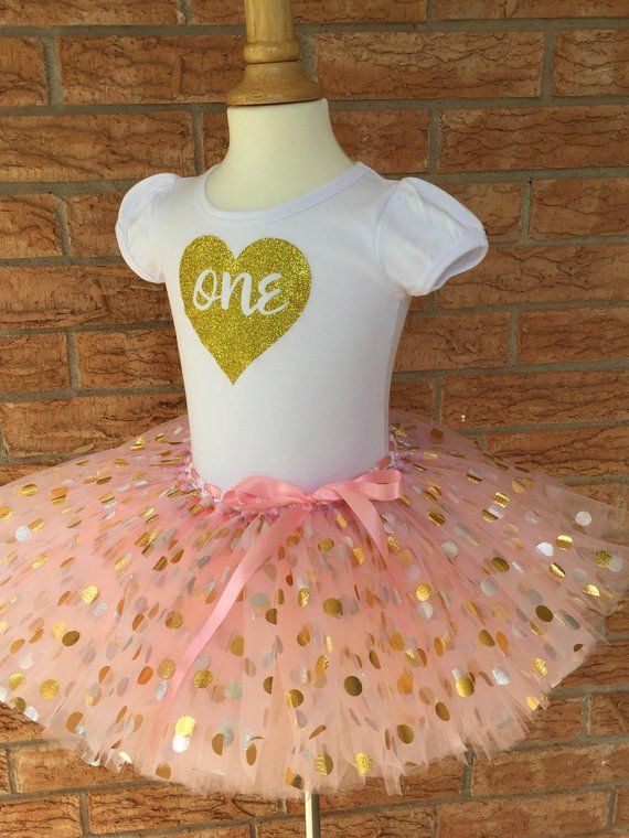 Girls First Birthday Shirt 1st Outfit 1 Year Old Turning One Tutu Girl