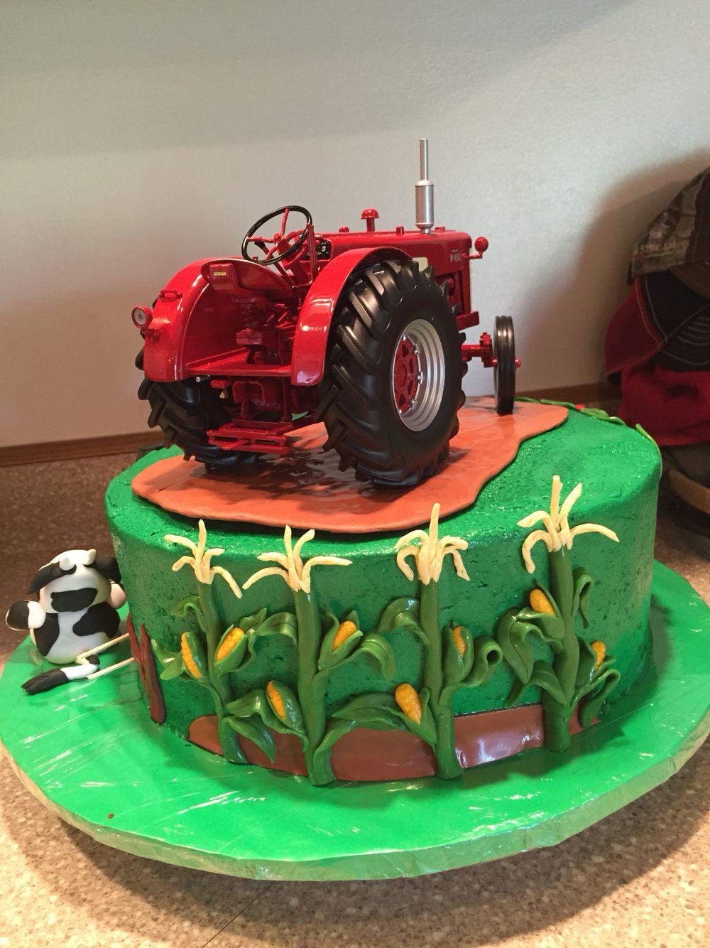 Farm theme farmall tractor farm theme bakery cake