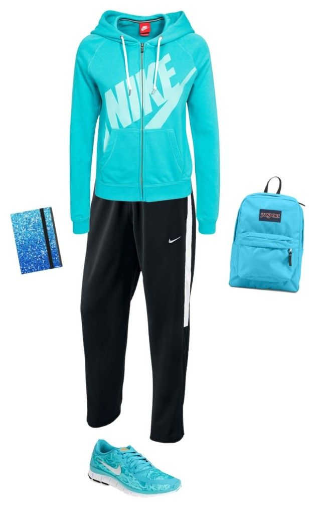 """""""Nike casual"""" by hjpnosser ❤ liked on Polyvore featuring NIKE and JanSport"""