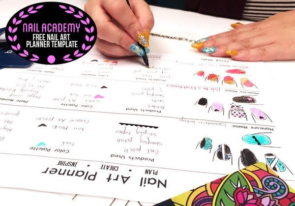 Plan Your Nail Art Ideas On Paper With These Free Printable