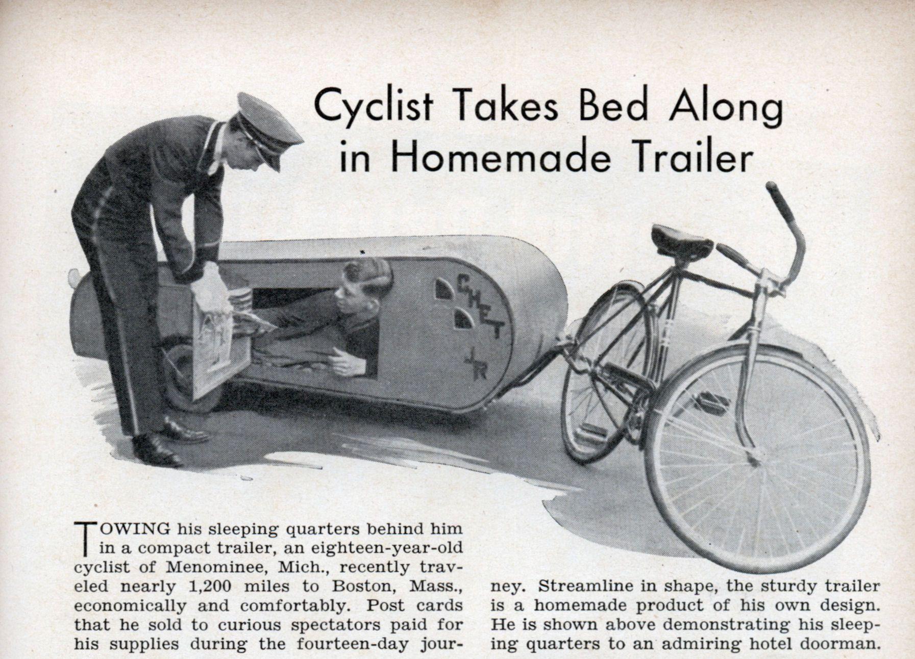 Homemade Bike Trailer | Tiny Homes | Pinterest