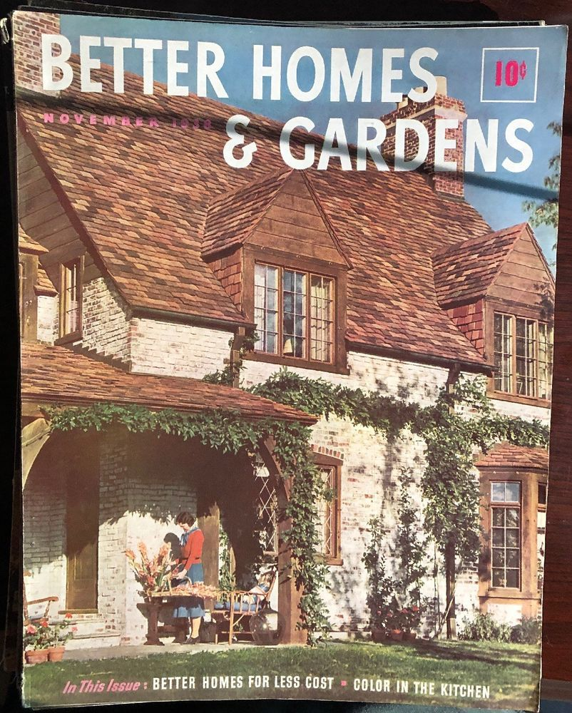 Nov 1938 issue of the better homes gardens magazine ebay