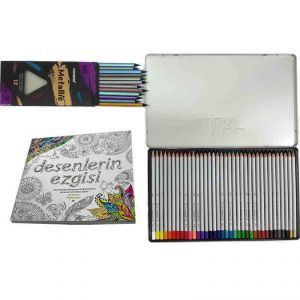 Desenlerin Ezgisi Monami Kuru Boyalar Promosyon Set 1 Kitap