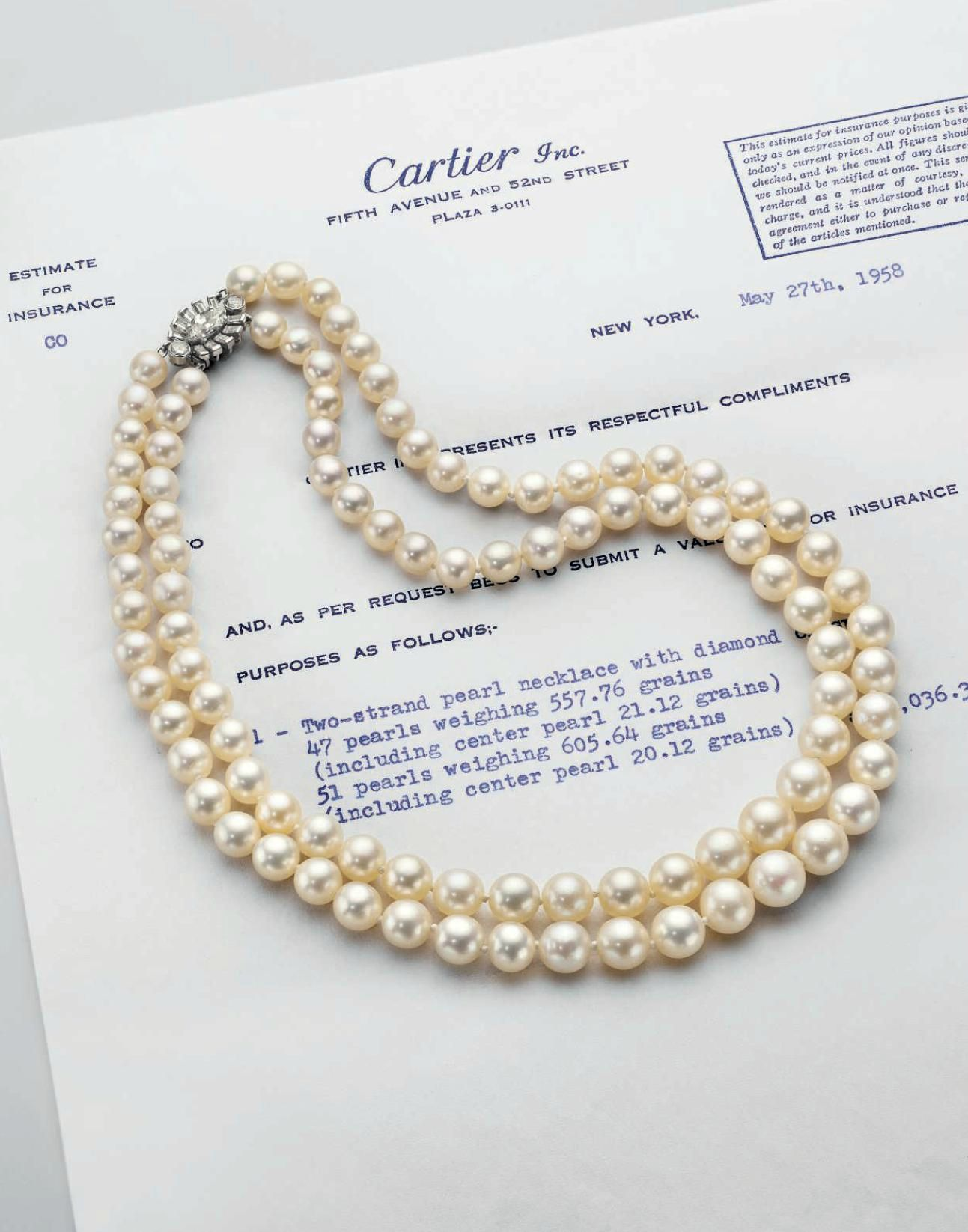 a two strand natural pearl necklace by cartier pearls. Black Bedroom Furniture Sets. Home Design Ideas