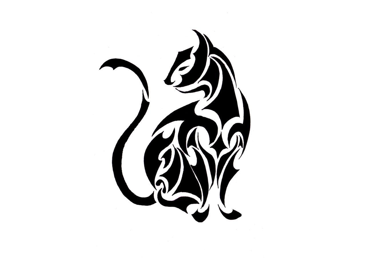 Tribal Cat Tattoo Design | Tatouage chat, Tatouage polinesien, Modele tatouage
