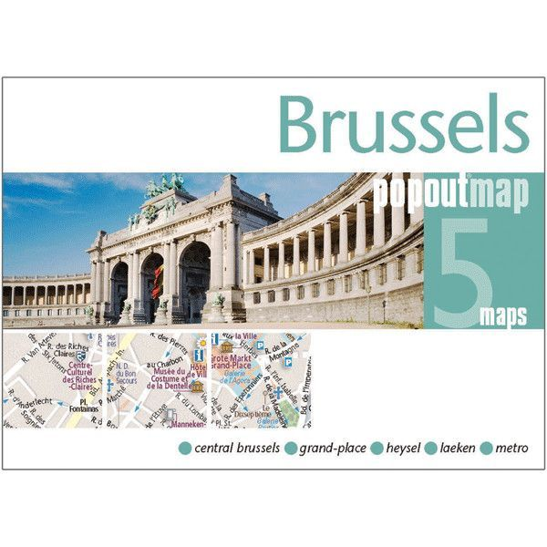 Brussels PopOut Map (Set of 2)