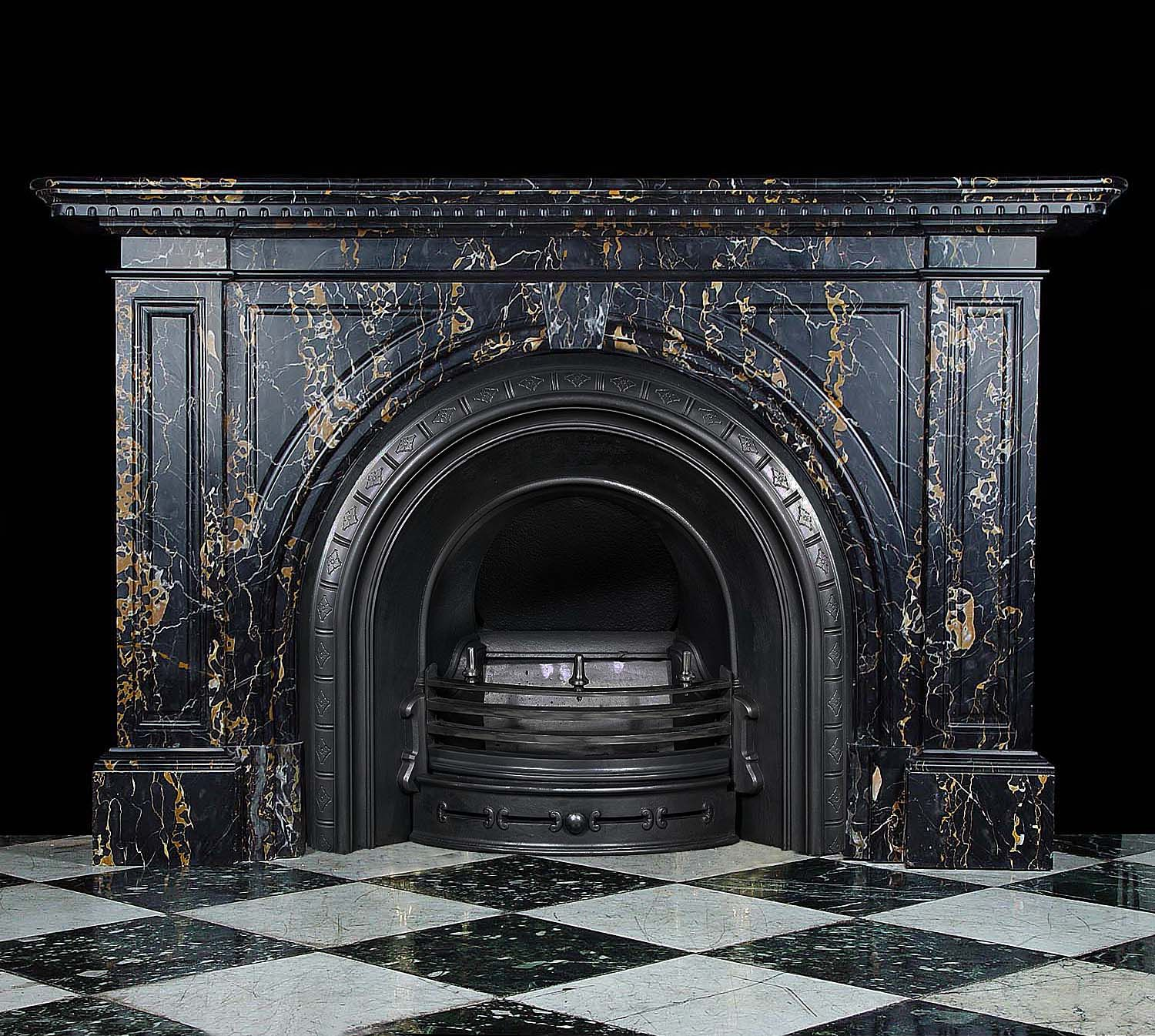 antique marble fireplace mantels. Antique Black with Gold Marble Fireplace Mantel  Victorian