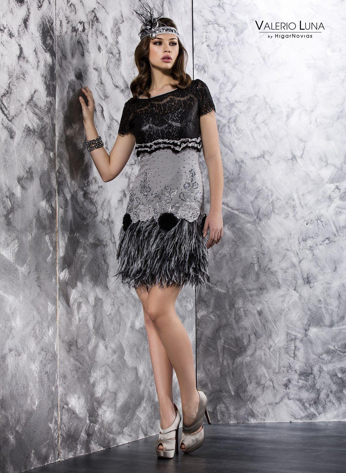 Vestido inspiraci n a os 20 colecci n 2014 valerio luna vestidos y complementos pinterest - Fiesta anos 20 ...