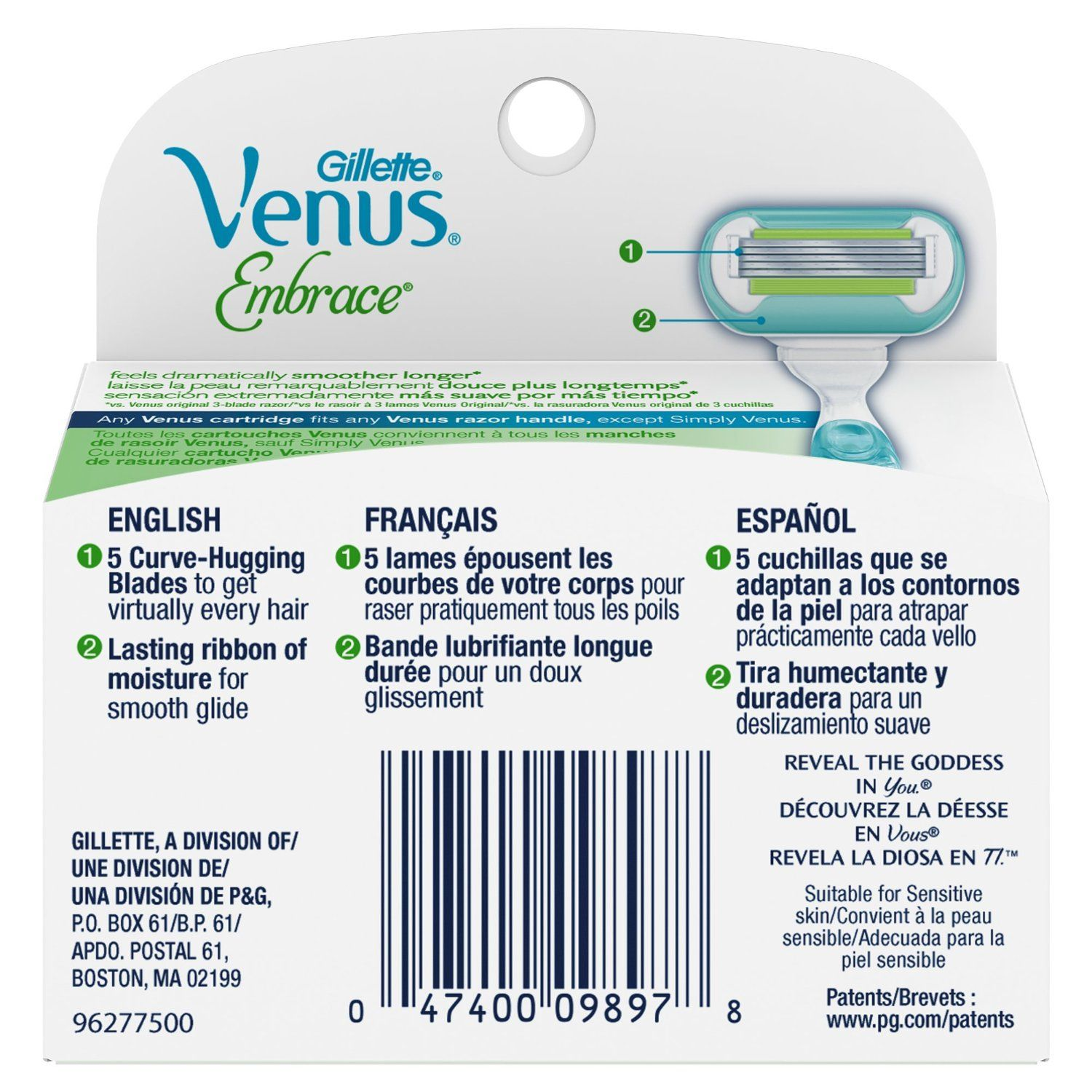 Female Personal Care Product Available At Onebeautybox Com Gillette Venus Razor Blades Gillette