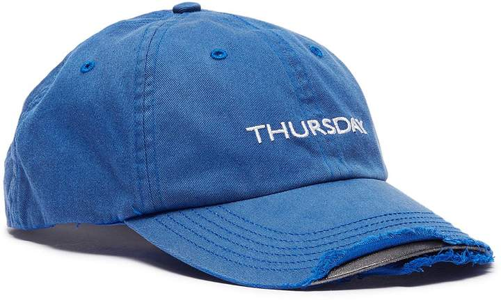 bf2b6cf9 x Reebok 'Weekday' slogan embroidered distressed baseball cap ...
