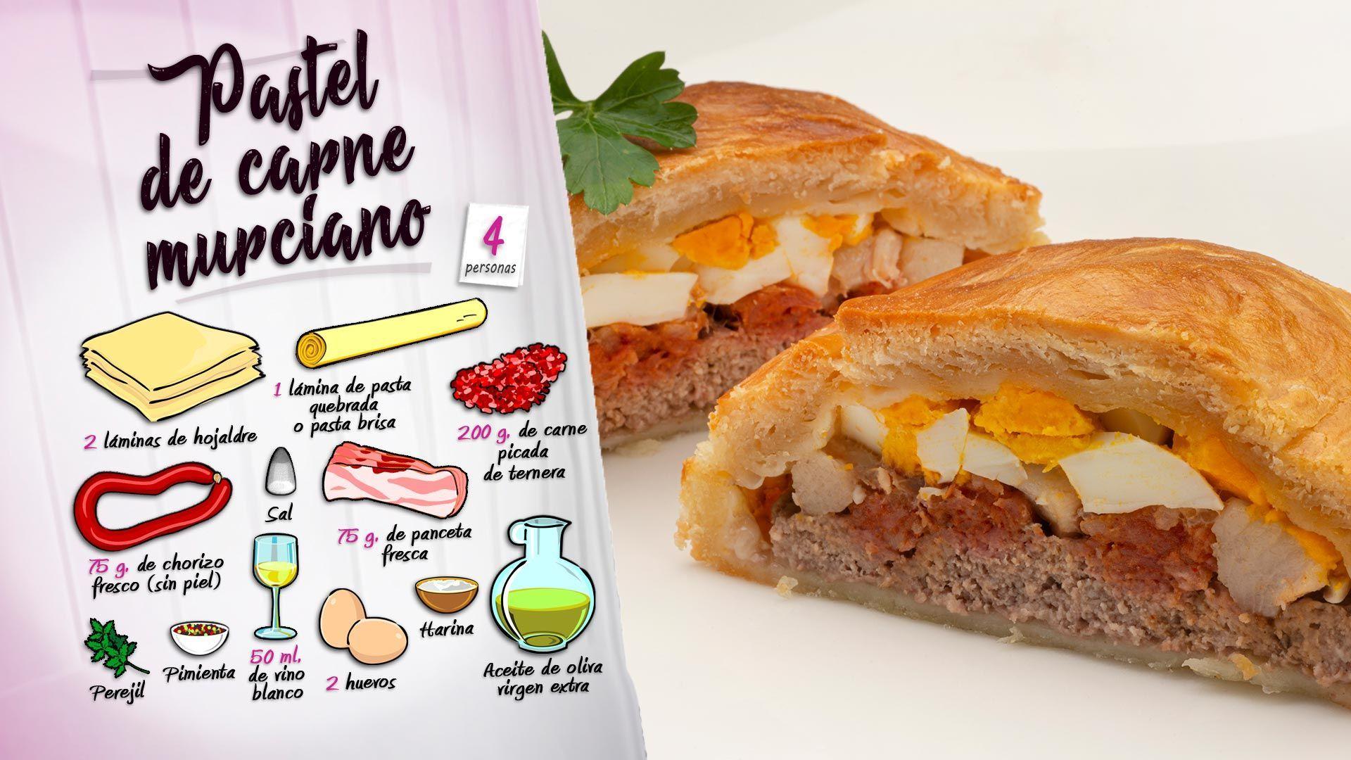 Pastel De Carne Murciano Receta De Karlos Arguiñano En Cocina Abierta Hogarmania Receta Pastel De Carne Recetas Fáciles De Comida Comida Y Bebida